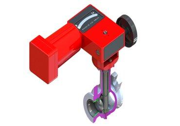 Pneumatic rotary control valve