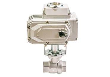 2 piece electric ball valve