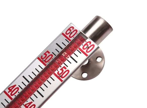 Aluminum float magnetic level gauge