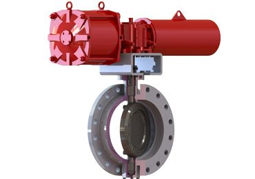 Butterfly-control-valve
