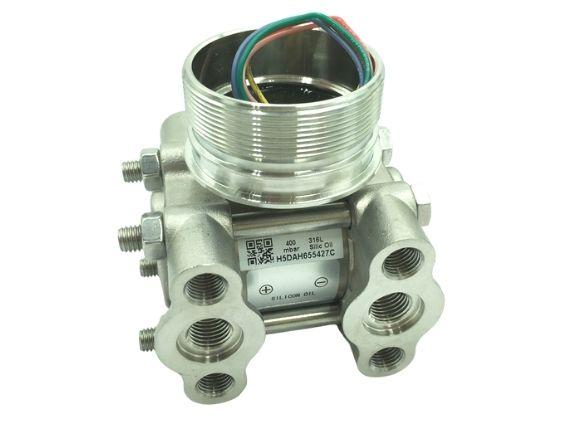 Complete differential pressure silicon sensor