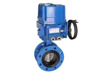 Electric rubber liner butterfly valve