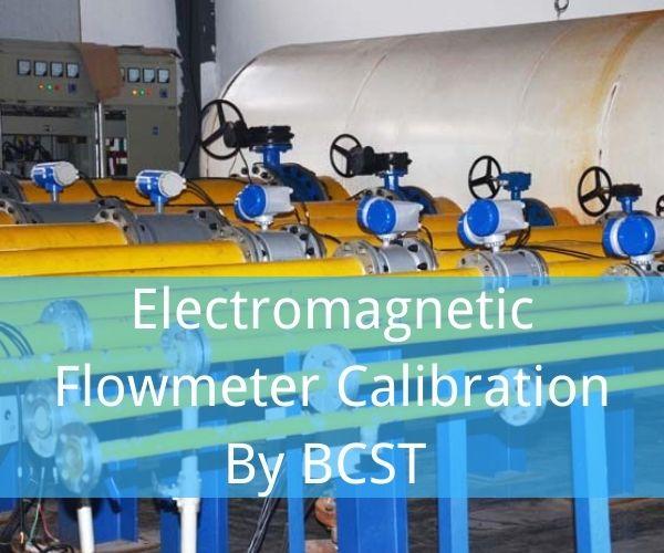 Electromagnetic flowmeter calibration by BCST