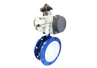 Flange connnection Pneumatic butterfly valve