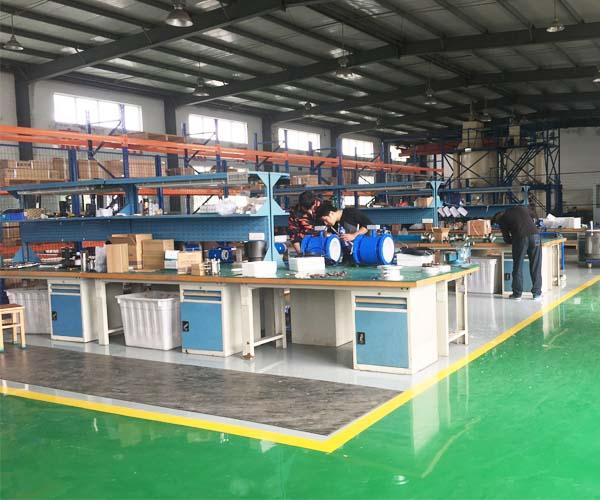 Flowmeter assembly line