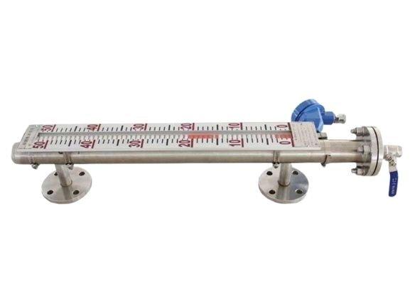 High pressure magnetic level gauge