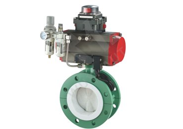PTFE-liner-pneuamtic-buttefly-valve