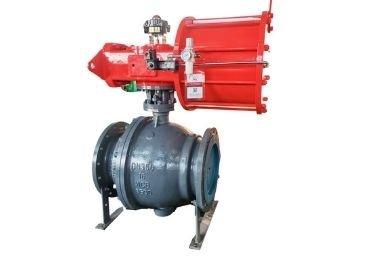 Pneumatic trunnion-mounted ball valve