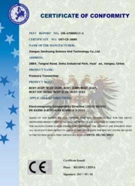 Pressure Transmitter _CE certificate