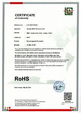 ROHS certificate-Electromagnetic flowmeter-BCST