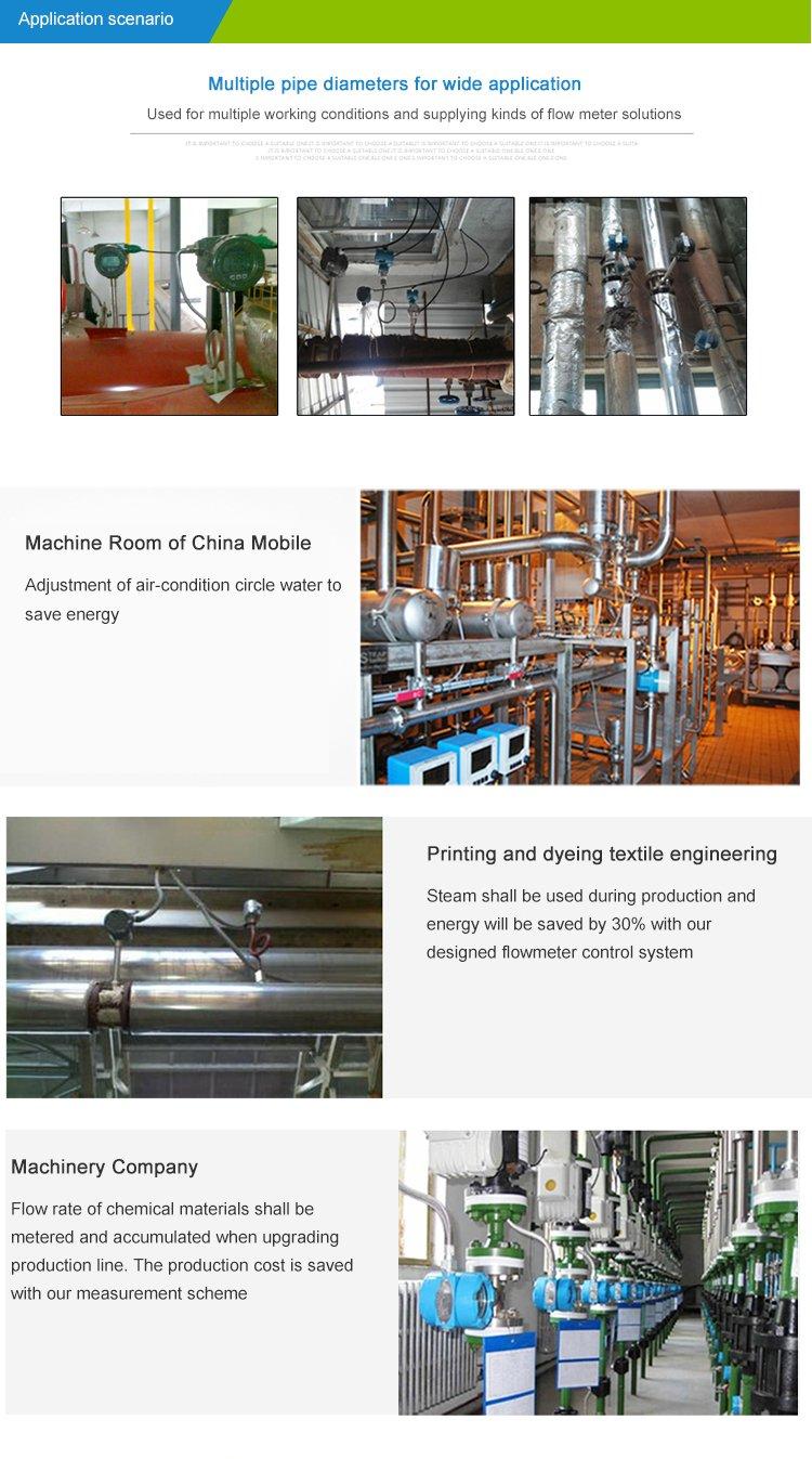 Vortex flowmeter-installation