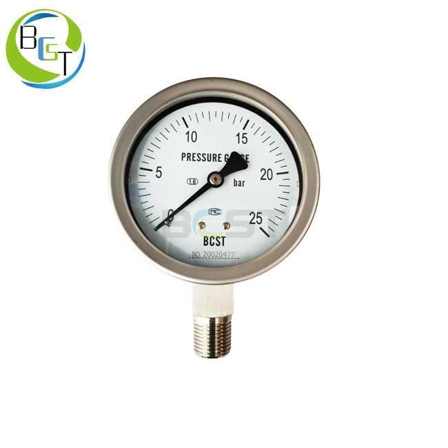 YBW Full Stainless Steel Pressure Gauge 1