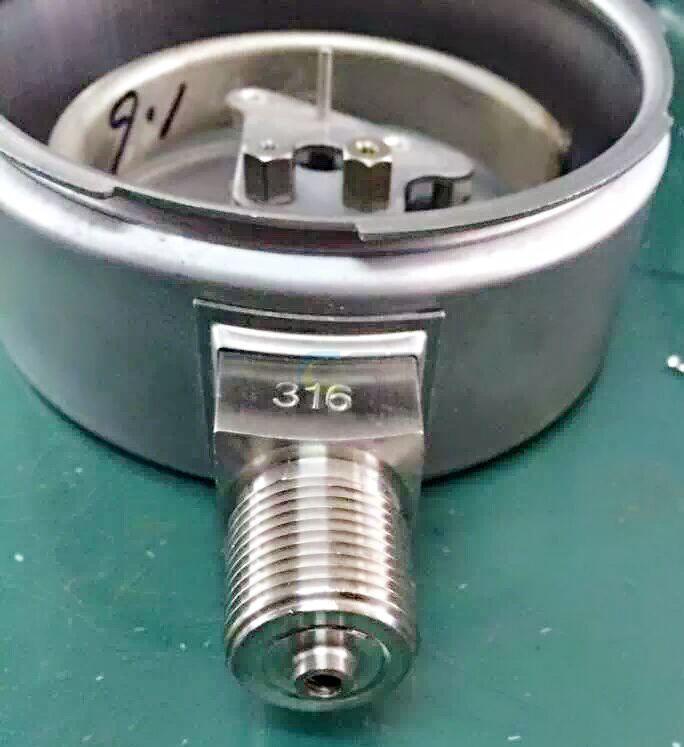 YBW Full Stainless Steel Pressure Gauge 3