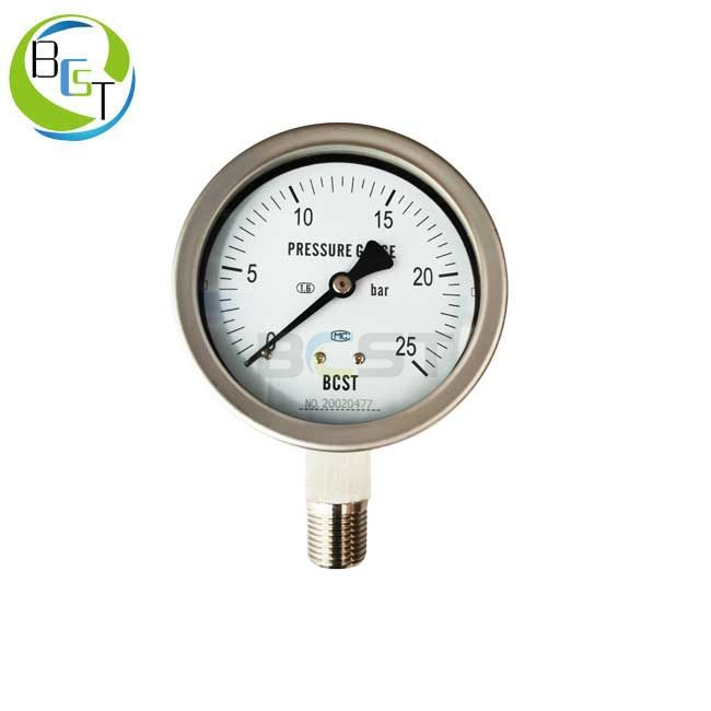 YBW Full Stainless Steel Pressure Gauge