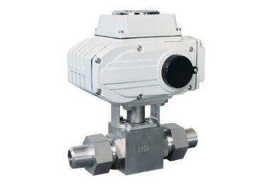 high pressure welded electric ball valve