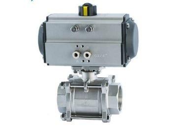 stainless steel pneuamtic ball valve