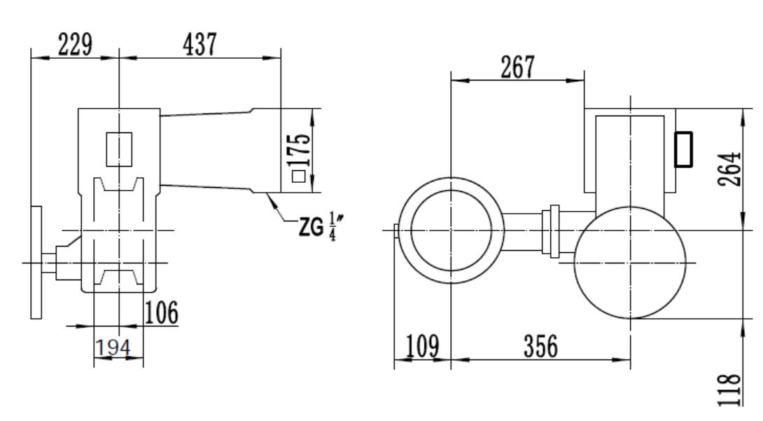 Dimension- eccentric rotary control valve