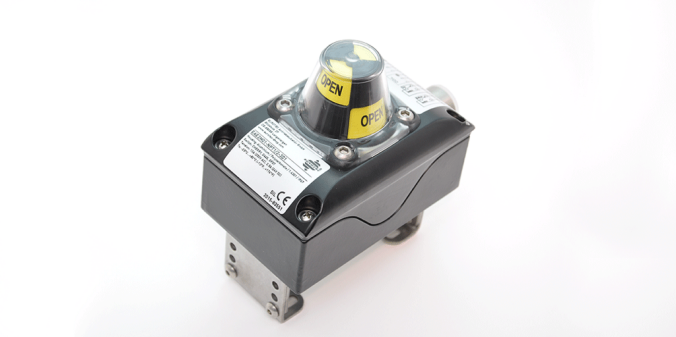 What is the role of the limit switch in the Pneumatic on/off valve?