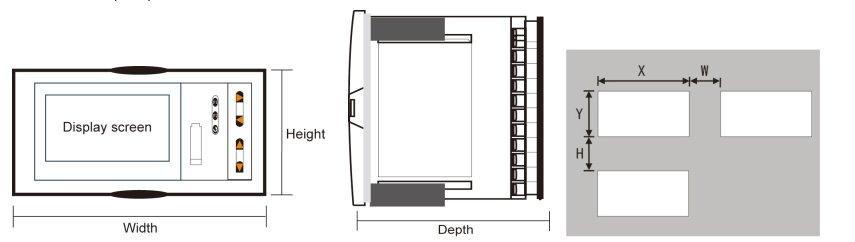 dimenstion-Flow-totalizer