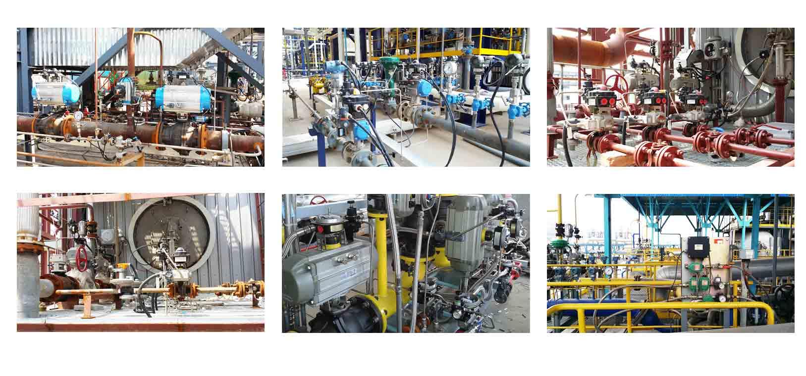 Globe-control-valve-installation