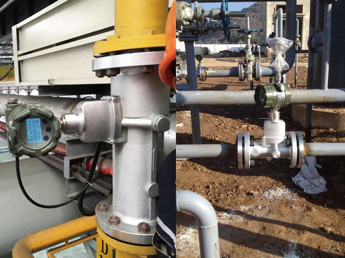 Installation-Natural-Gas-Vortex-Flowmeter