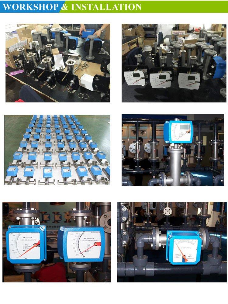 Installation-metal tube rotameter