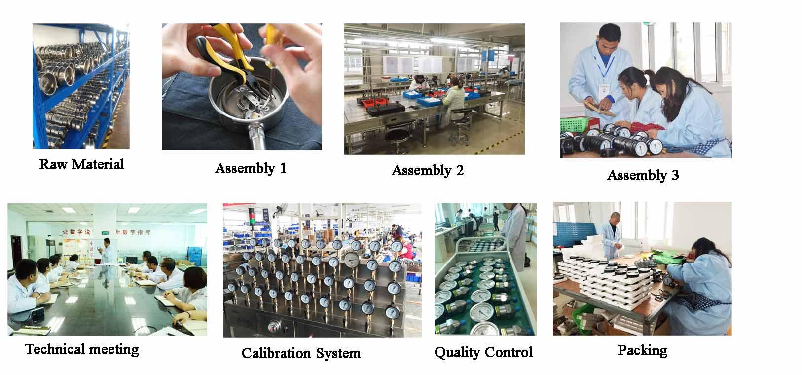 stainless steel Pressure-gauge-production