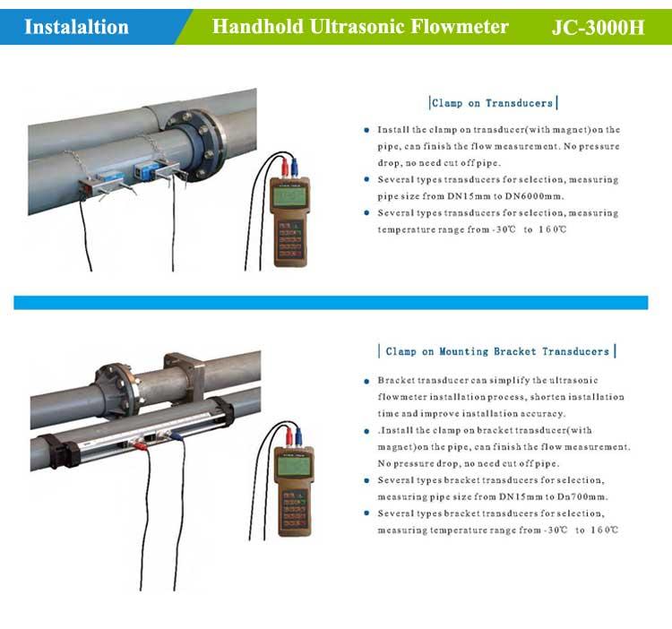 Ultrasonic flowmeter-installation
