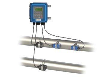 Wall-installed-ultrasonic-flowmeter