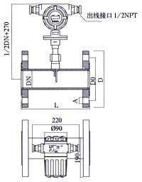 figure 4 plug-in Thermal-Mass-Flow-Meterinstallation