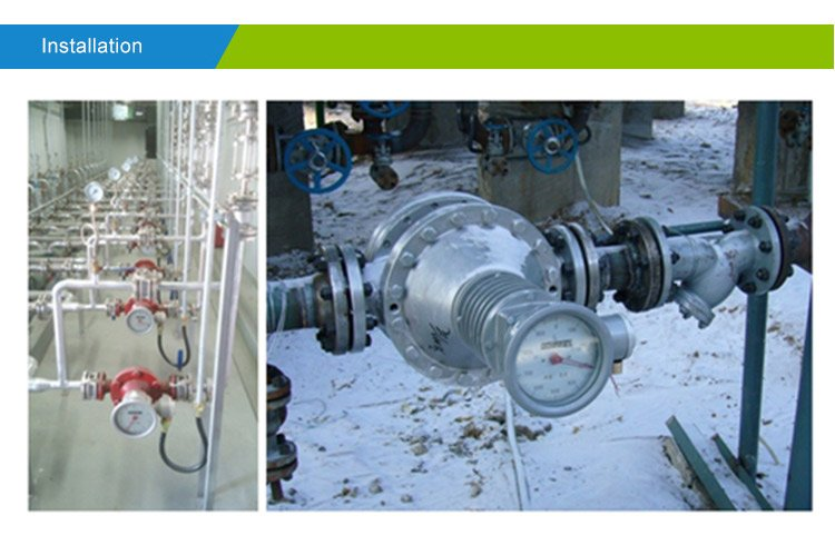 Oval-gear-flowmeter-installation