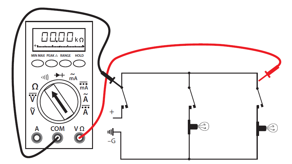Continuity Test Using A Multimeter