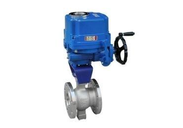 Flange V port Electric control ball valve