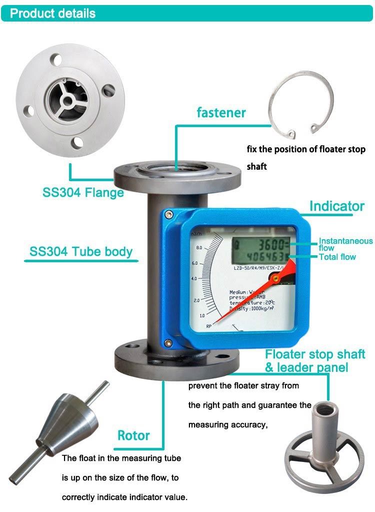 High-quality-Metal-Tube-Rotameter-flow-meter