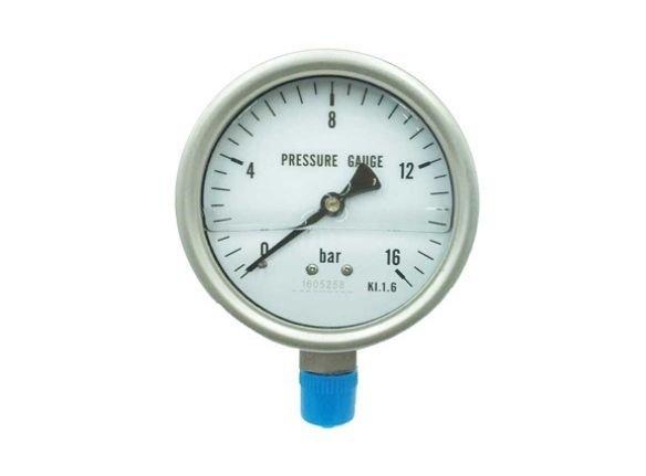 Oil fill pressure gauge
