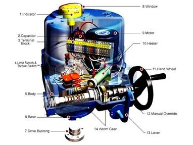 Parts Of An Electric Control Valve