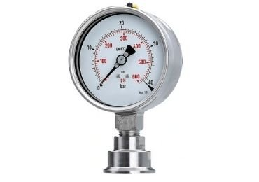 Sanitary diaphragm pressure gauge