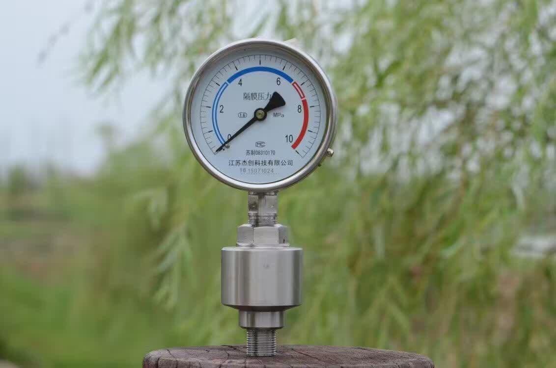 Video-diaphragm pressure gauge